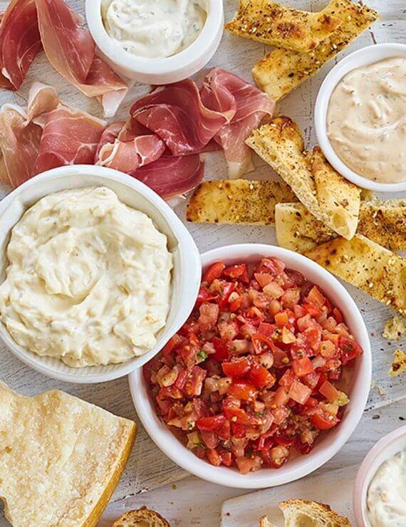 Hummus, Dips & Bruschetta